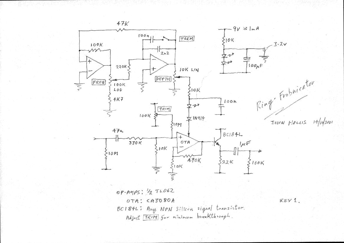 John Hollis Assorted Circuit Designs Wah But With No Up And Down Variation Like The Pedal Allows Here Is Frobnicator Schematic