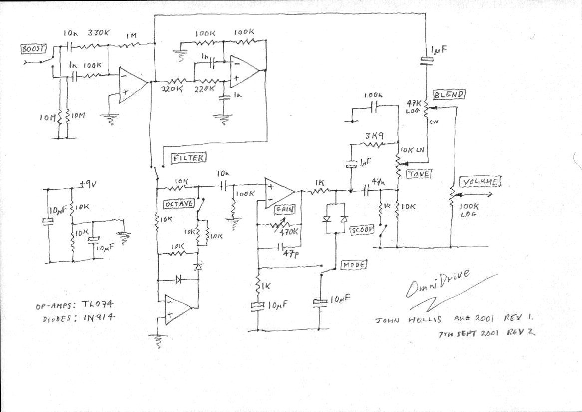 John Hollis Assorted Circuit Designs Pre Tone Control Here Is The Schematic